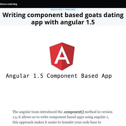 Writing component based app with angular 1.5
