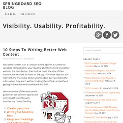 10 Steps To Writing Better Web Content | Springboard SEO