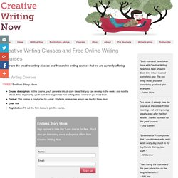 Free Online Writing Courses - Creative Writing Classes in Fiction and Poetry