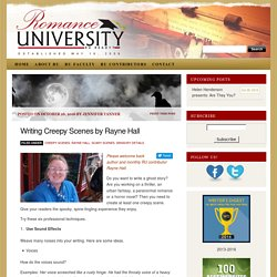 Writing Creepy Scenes by Rayne Hall