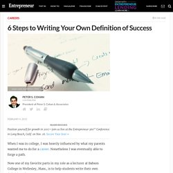 6 Steps to Writing Your Own Definition of Success
