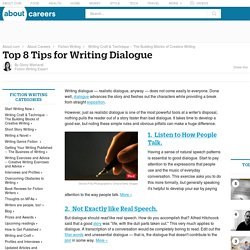 how to write good dialogue in a story