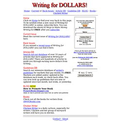 Writing for DOLLARS!