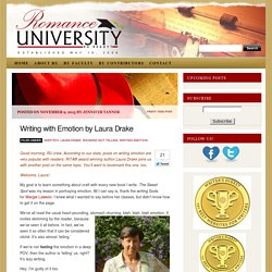 Writing with Emotion by Laura Drake
