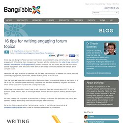 16 tips for writing engaging forum topics