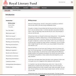 Writing essays (Royal Literary Fund)