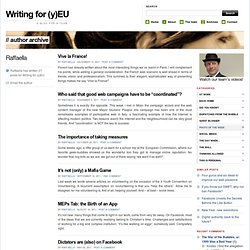 Writing for (y)EU | Raffaella