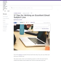 17 Tips for Writing an Excellent Email Subject Line