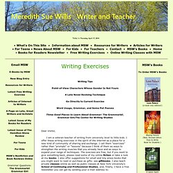 Writing Exercises Meredith Sue Willis Author and Teacher
