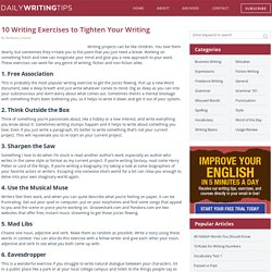 10 Writing Exercises to Tighten Your Writing