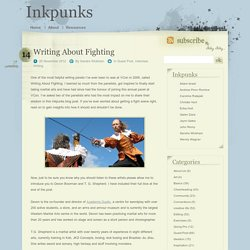 Writing About Fighting » Inkpunks