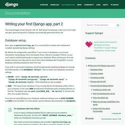 Writing your first Django app, part 2