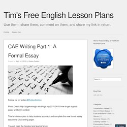CAE Writing Part 1: A Formal Essay