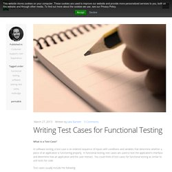 Writing Test Cases for Functional Testing » Game-based learning