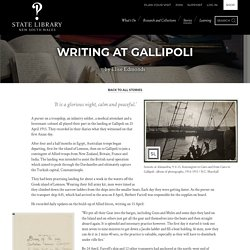 Writing at Gallipoli