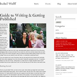 Guide to Writing & Getting Published