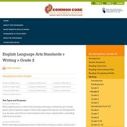 Writing » Grade 2