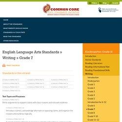 Writing » Grade 7