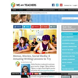 Six Writing and Grammar Lessons and Activities