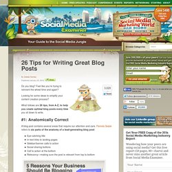 26 Tips for Writing Great Blog Posts