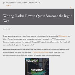 Writing Hacks: How to Quote Someone the Right Way