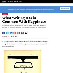 What Writing Has in Common With Happiness