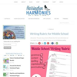 Writing Rubric for Middle School - Harrington Harmonies
