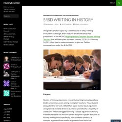 SRSD Writing in History