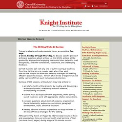 Cornell - Knight Institute for Writing in the Disciplines