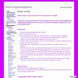 Bingo-writing - Kittys engelskoppgaver