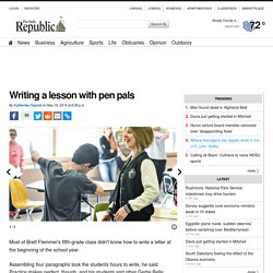 Writing a lesson with pen pals
