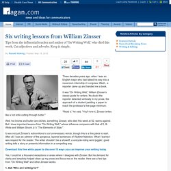 Six writing lessons from William Zinsser