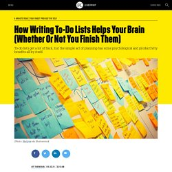How Writing To-Do Lists Helps Your Brain (Whether Or Not You Finish Them)