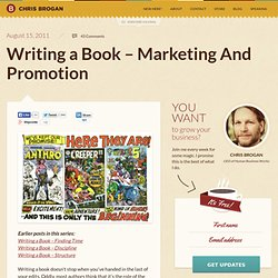 Writing a Book – Marketing And Promotion