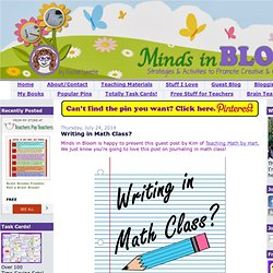 Minds in Bloom: Writing in Math Class?