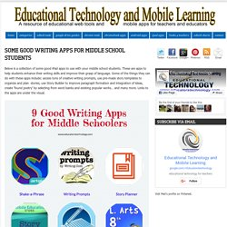 Some Good Writing Apps for Middle School Students
