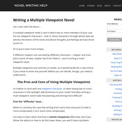 Writing a Multiple Viewpoint Novel