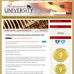 Writing Novel-Opening Scenes by Rayne Hall