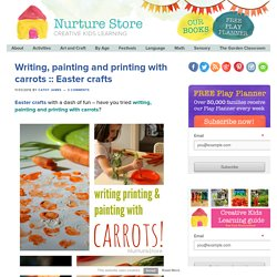 Writing, painting and printing with carrots