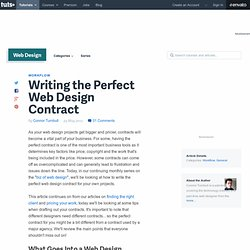 Writing the Perfect Web Design Contract