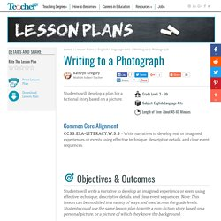 Writing to a Photograph Lesson Plan