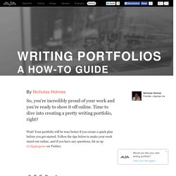 Writing portfolios - a how-to guide