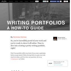 Writing portfolios - a how-to guide