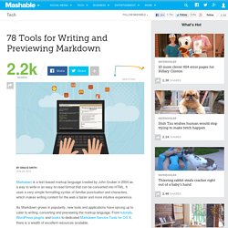 78 Tools for Markdown