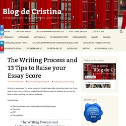 The Writing Process and 13 Tips to Raise your Essay Score