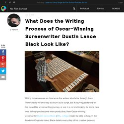 What Does the Writing Process of Oscar-Winning Screenwriter Dustin Lance Black Look Like?