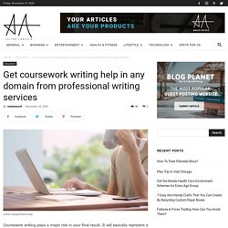 Writing help in any domain from professional writing services
