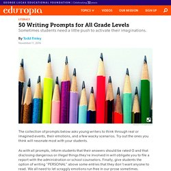 50 Writing Prompts for All Grade Levels