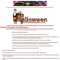 Writing Prompts for Halloween