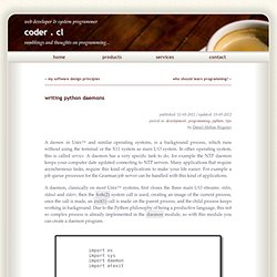 writing python daemons | coder . cl